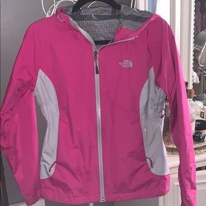 Authentic pink Northface raincoat